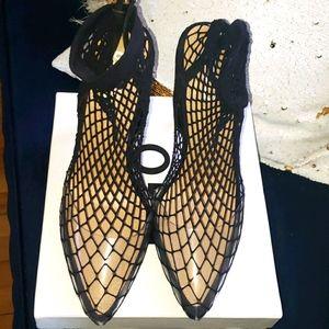 EGO fishnet heels